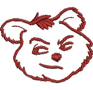 Sneaky Bear embroidery design