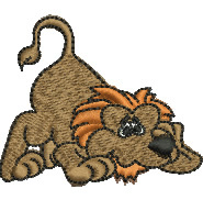 Scared Lion embroidery design