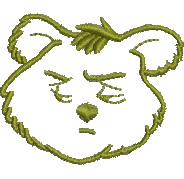 Worried Bear embroidery design