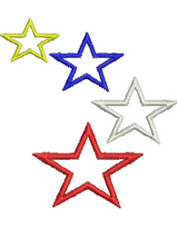 Four Stars embroidery design