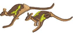 Kangaroos embroidery design