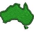 Map of Australia embroidery design