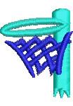 Netball Hoop embroidery design