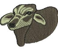 Brahman Bull embroidery design
