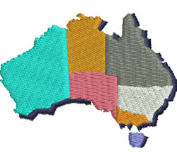 Map of Australia embroidery design