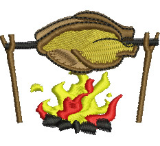 Roasting Chicken embroidery design