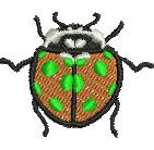 Ladybeetle embroidery design