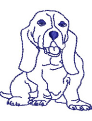 Bloodhound Dog embroidery design