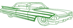 Caddy embroidery design