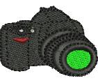 DSLR Camera embroidery design