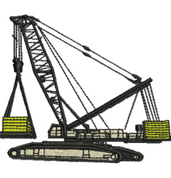 Heavy Lifting Crane embroidery design