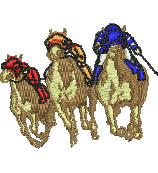 Horse Race embroidery design