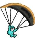 Parachuter embroidery design