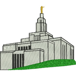 Draper Utah Temple embroidery design
