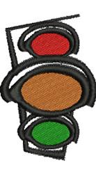 Stoplight embroidery design