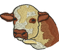 Cows Head embroidery design