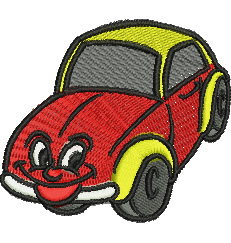 Smiling Car embroidery design