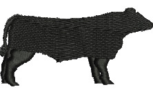 Angus Bull embroidery design