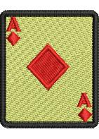 Ace of Diamonds embroidery design