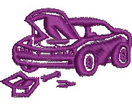 Car and Toolbox embroidery design