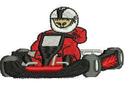 Go Kart Racing embroidery design