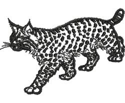 Lynx embroidery design