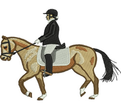 Equestrian Event embroidery design