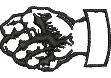 Clenched Fist embroidery design