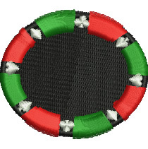 Roulette Wheel embroidery design