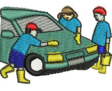 Car Washing embroidery design