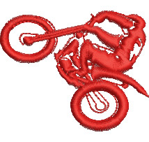 Motorcycle Trials embroidery design