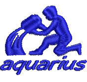 Aquarius embroidery design