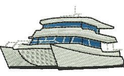 Catamaran embroidery design