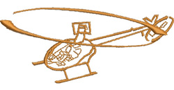 Helicopter embroidery design