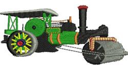 Steamroller embroidery design