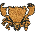 Spanner Crab embroidery design