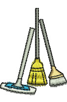 Brooms embroidery design
