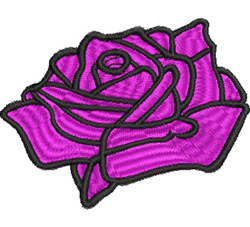 Large Rose embroidery design
