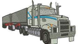 Semi Trailer Truck embroidery design