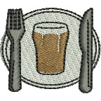 Pub Meal embroidery design