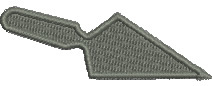 Trowel embroidery design