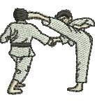 Karate Kids embroidery design