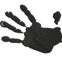 Handprint embroidery design