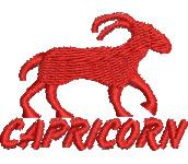 Capricorn embroidery design