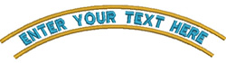 Enter your Text Banner embroidery design