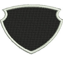 Filled Shield with Border embroidery design