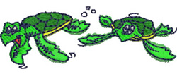 Turtles embroidery design
