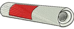 Rolled Newspaper embroidery design