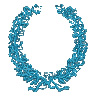 Detailed Wreath embroidery design