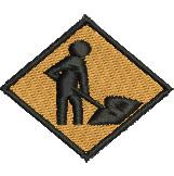 Roadwork Sign embroidery design